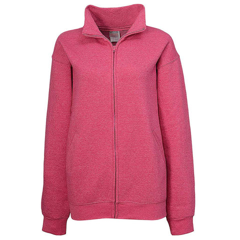 Womens Fuchsia Pink Full Zip Jacket - Teemax