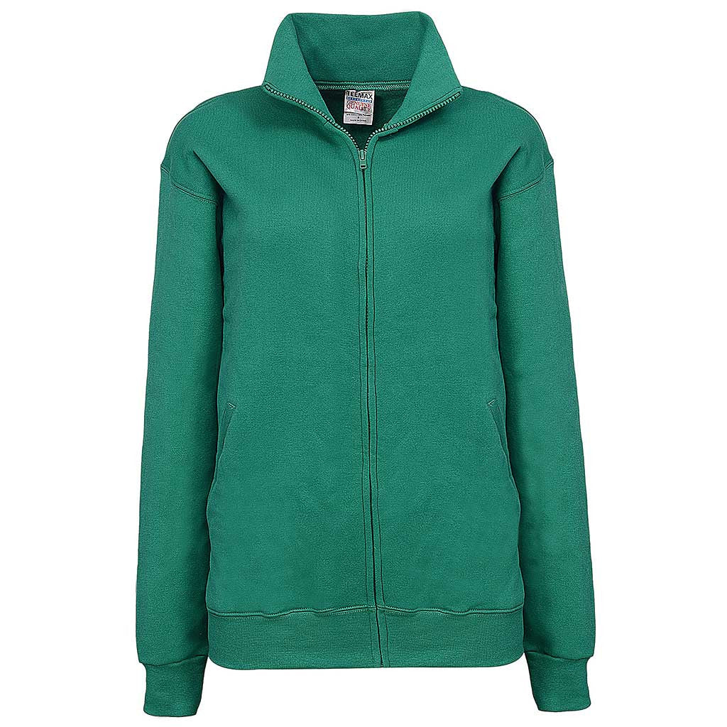 Womens Irish Green Full Zip Jacket - Teemax