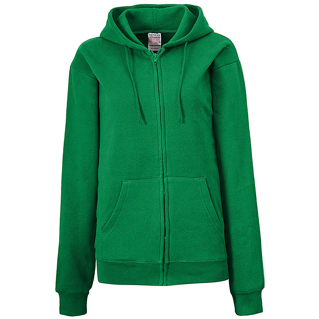 Womens Kelly Green. Shamrock Irish. Zip Hoodie
