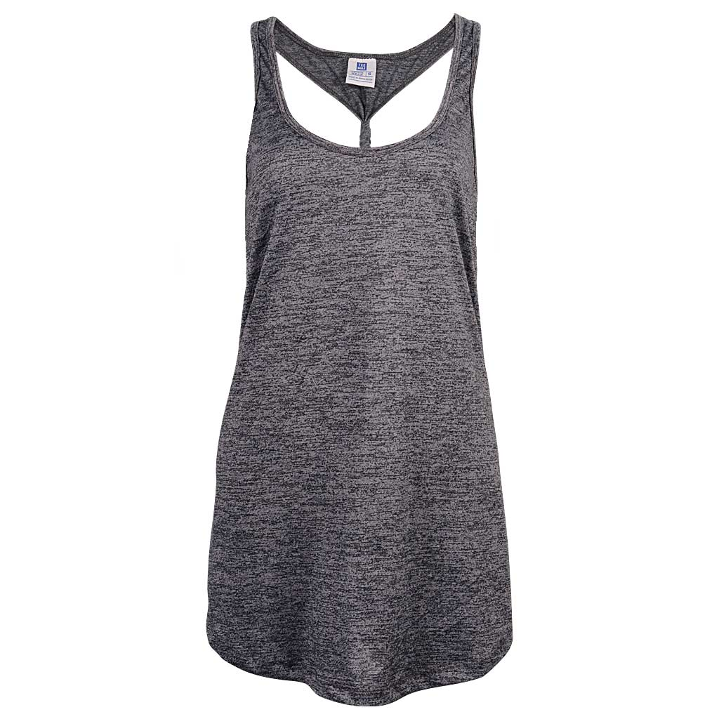 Womens Gray Knot Back Tank Top