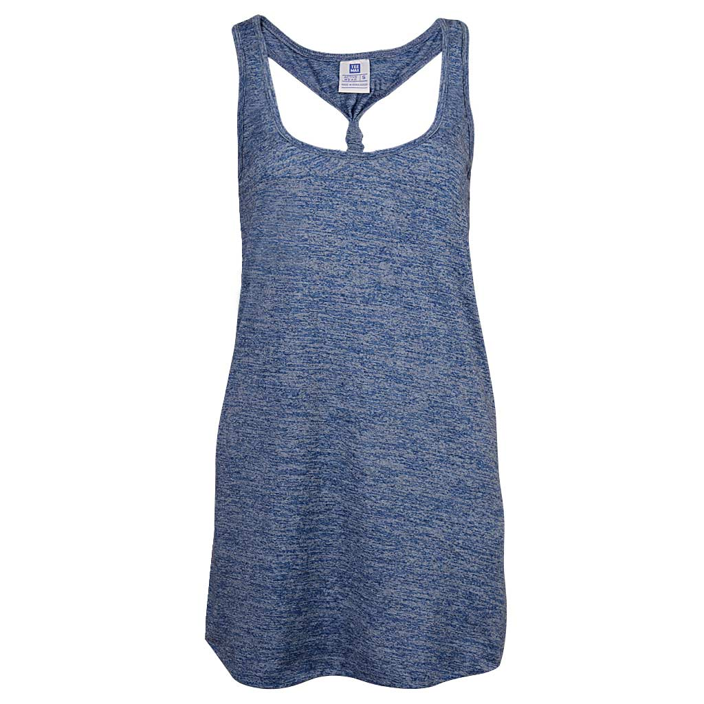 Womens Back Knotted Tank Navy Blue