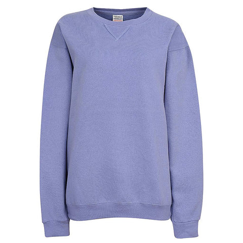 Womens Crew Neck Sweatshirt (LIGHT PURPLE)