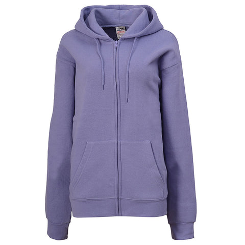 Womens Lavender Purple Zip Up Hoodie