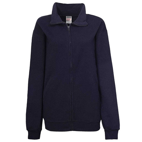 Womens Navy Blue Full Zip Jacket - Teemax