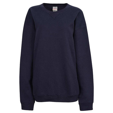 Womens Navy Blue Crew Neck Sweatshirt