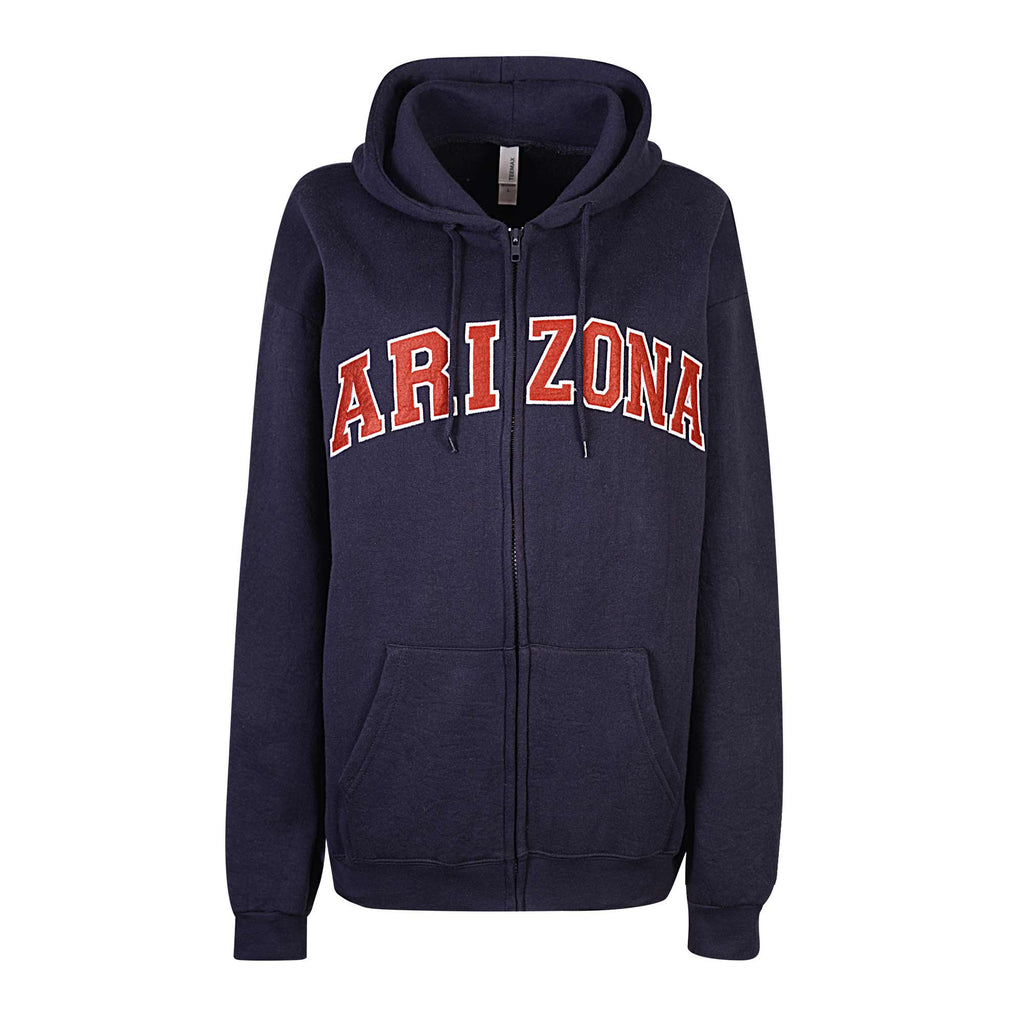 Womens Arizona Navy Blue Zip Up Hoodie