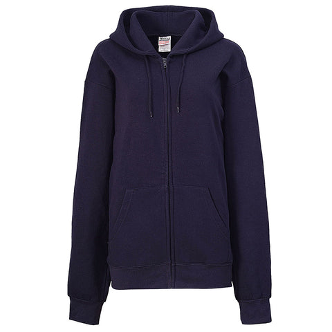 Womens Navy Blue Zip Up Hoodie