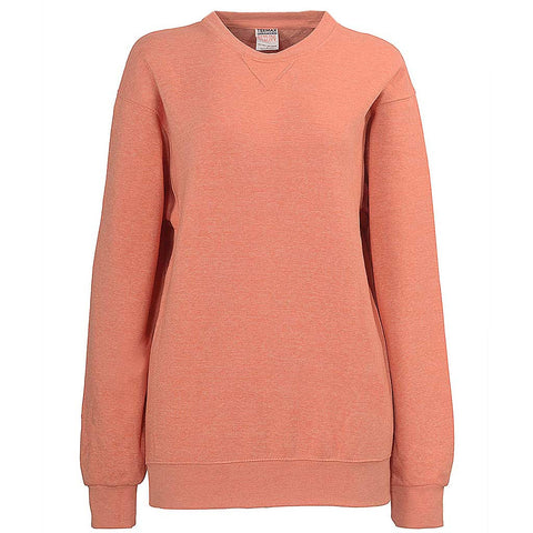 Womens Crew Neck Sweatshirt Light Heather Orange