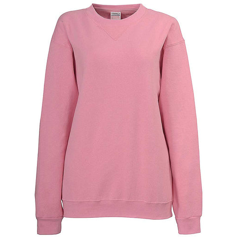 Womens Pink Crew Neck Sweatshirt