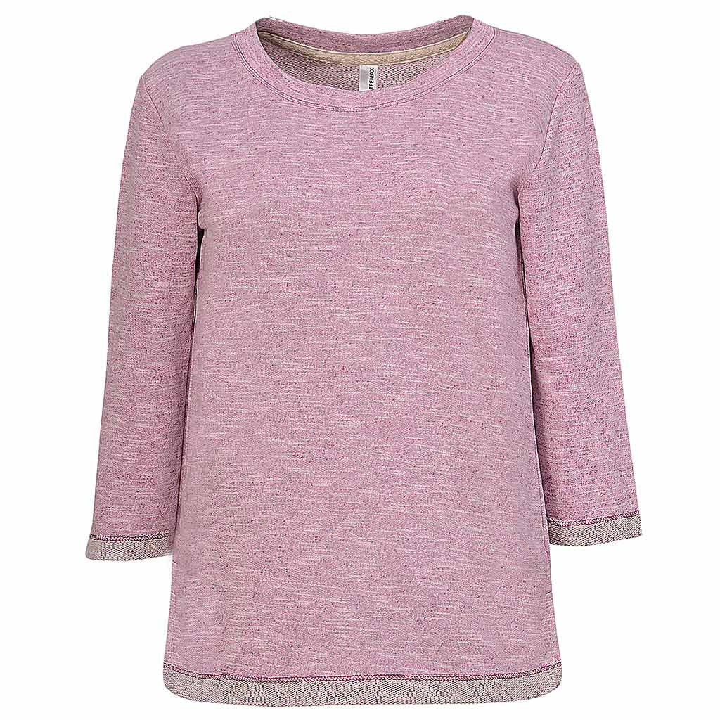 Womens Pink Sweatshirt Sweater. Half Sleeve