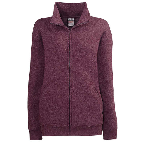 Womens Rasberry Purple Full Zip Jacket - Teemax