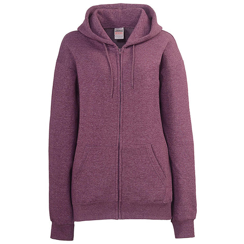 Womens Plum Purple Zip Up Hoodie Sweatshirt