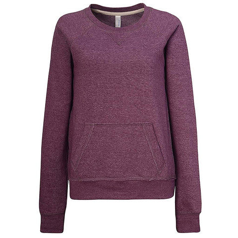 Womens Purple Sweatshirt Violet Raglan