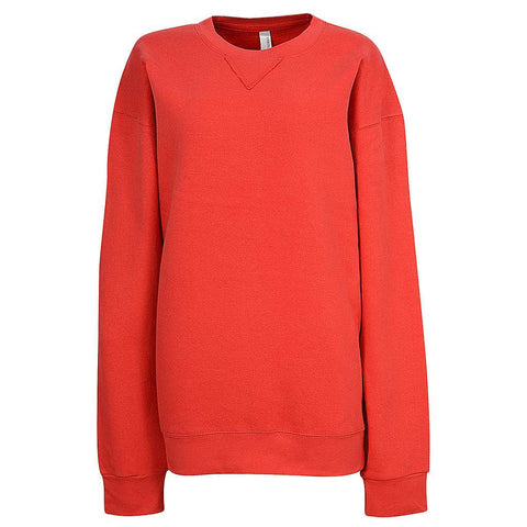 Womens Red Fleece Sweatshirt. Blank.