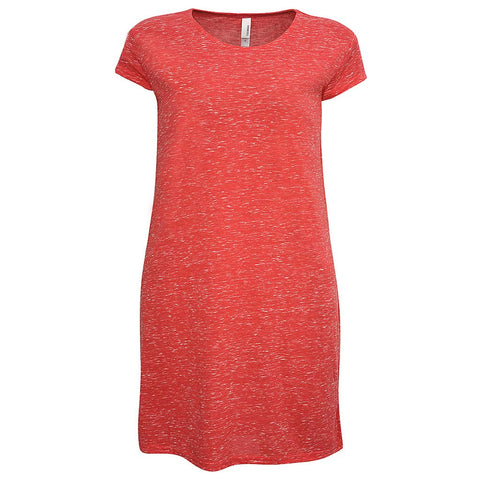 Womens T Shirt Dress. Coral Pink.