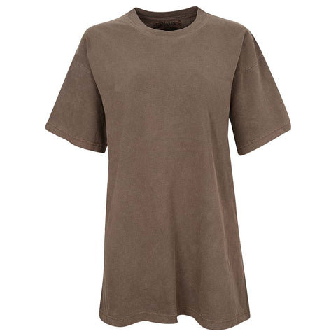 Womens Unisex Faded Brown Vintage Shirt