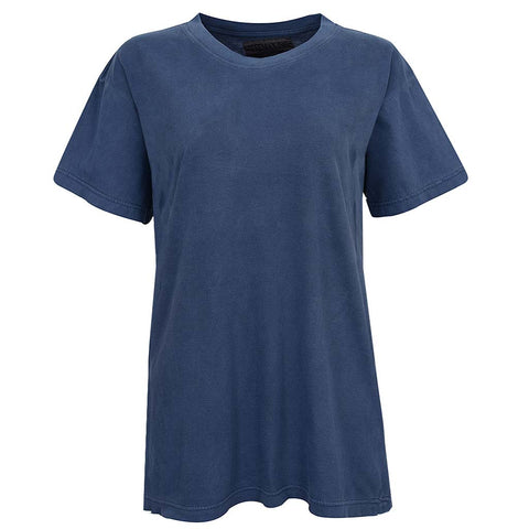 Unisex Womens Vintage Navy Blue Shirt