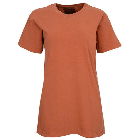 Unisex Womens Burnt Orange Vintage T Shirt
