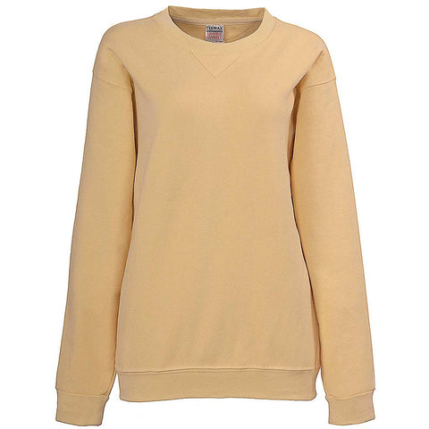 Womens Crew Neck Sweatshirt: Pale Yellow Vanilla