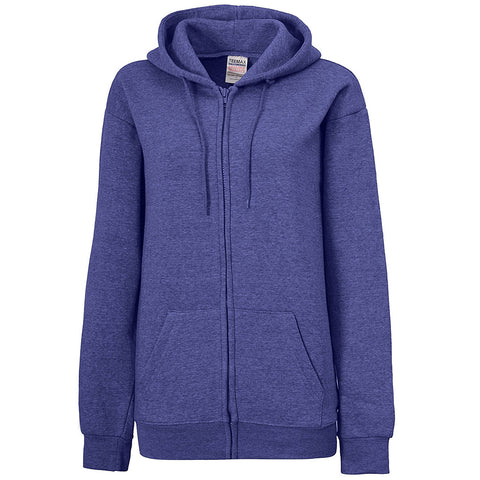Womens Violet Blue Zip Up Hoodie. Royal Blue