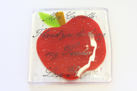 Apple Coaster Teacher Gift