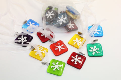 Coloured Snow Flakes