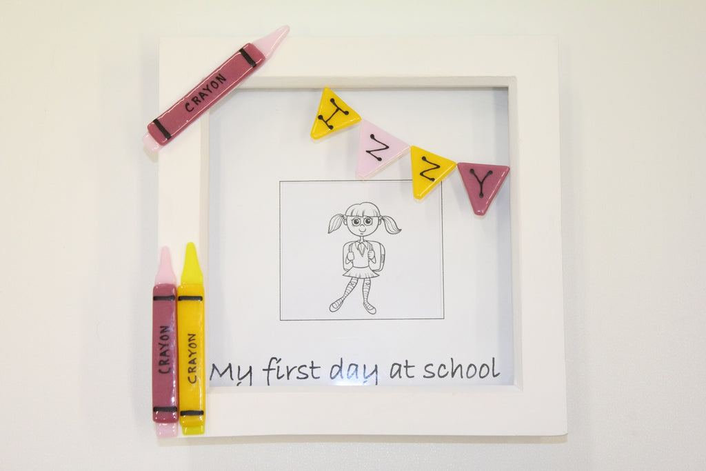 First day at school frame – Iridescent Glass Design