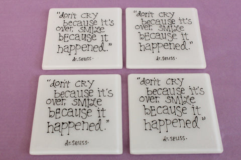Dr Seuss quote coaster