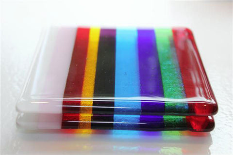 Sexy Stripe Glass Coasters