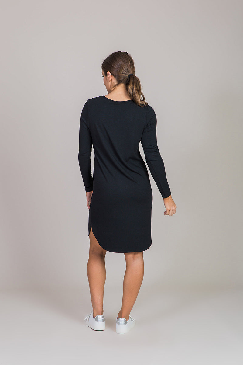 Nicole Alex black long sleeve dress