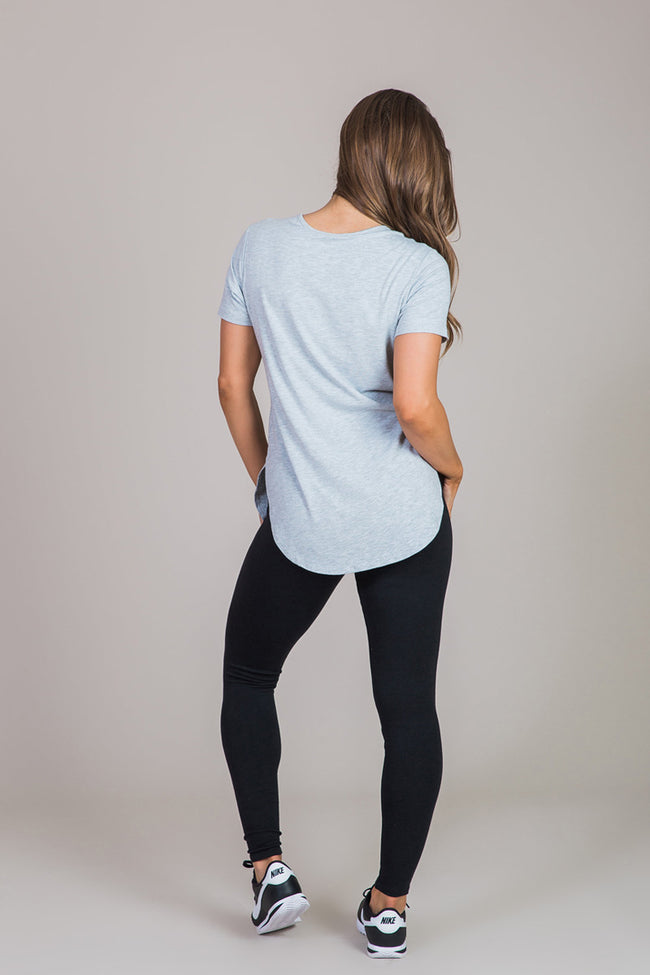 gray shirt back