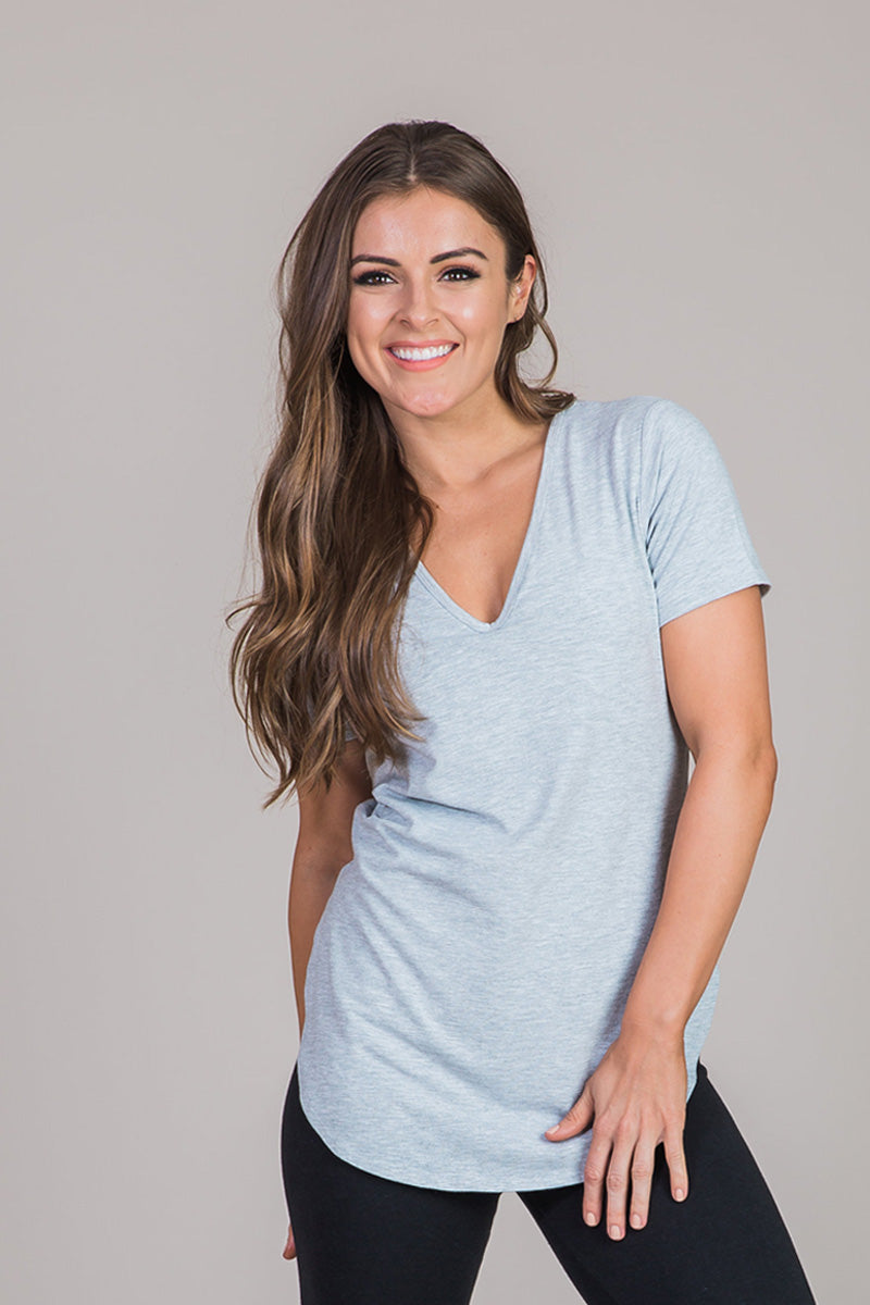 Nicole Alex heather gray tshirt