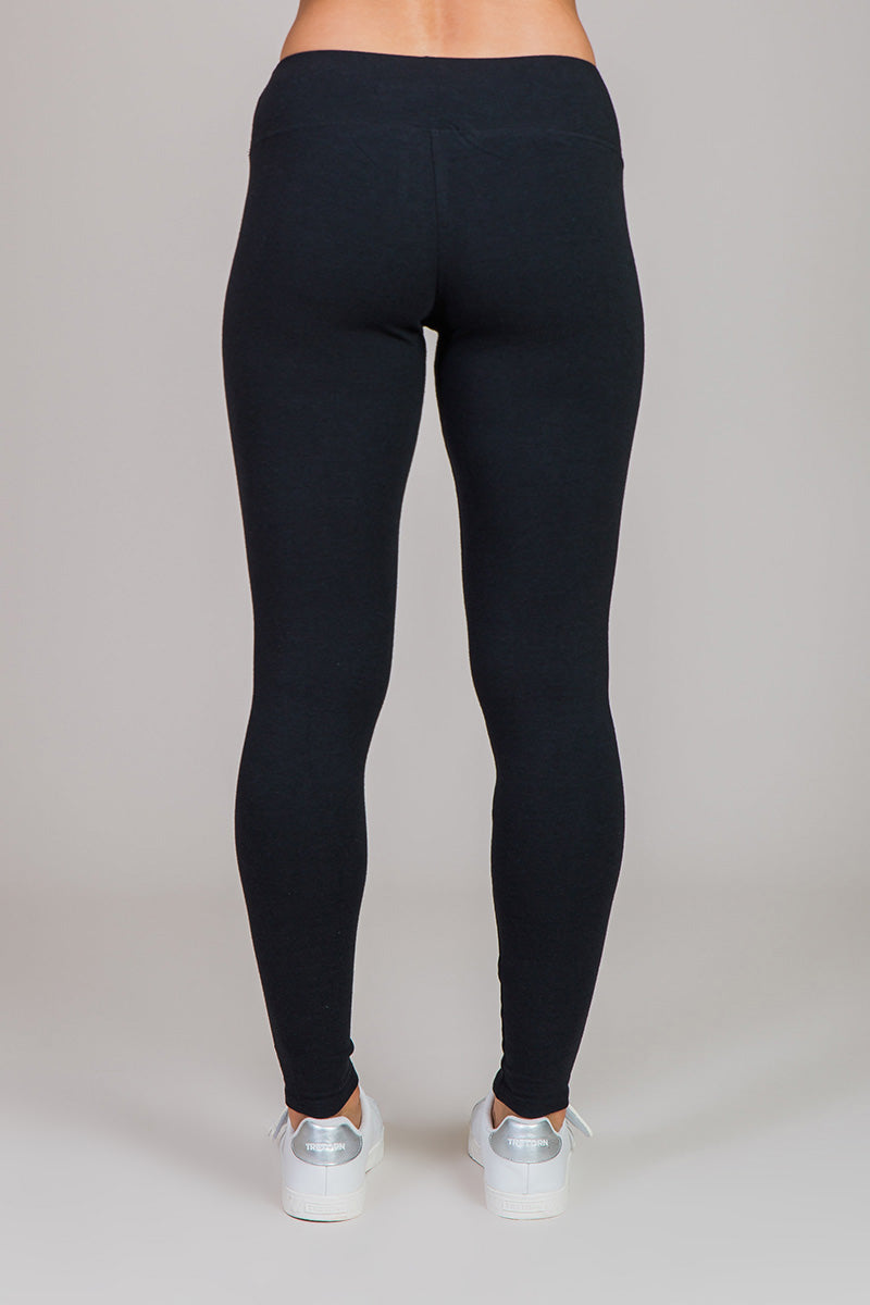 Nicole Alex black French Terry leggings