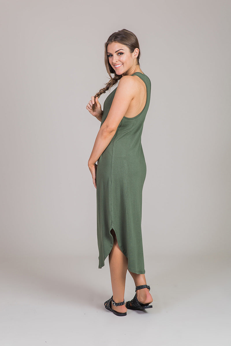 Nicole Alex green dress
