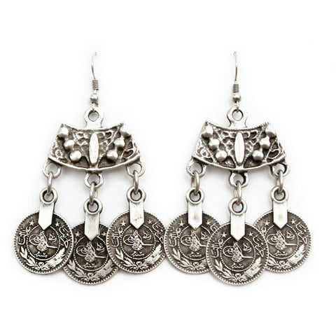 Alkemie Curve Top Coin Earrings