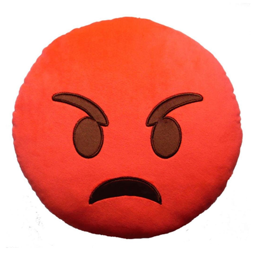 ANGRY FACE EMOJI PILLOW
