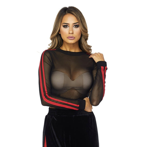 BEVERLY SPORT MESH CROP TOP