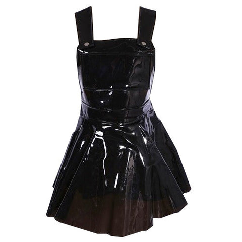 CLEAR PVC DRESS- BLACK