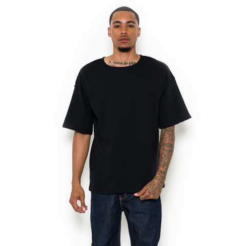 JETBANG LA DROP SHOULDER TEE BLACK