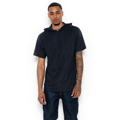 JETBANG LA SUEDE HOODED TOP BLACK