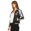 EVA EMBROIDERED SATIN BOMBER JACKET