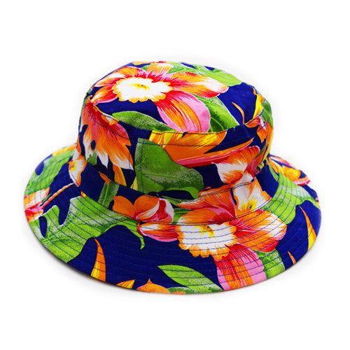 TROPICAL BUCKET HAT BLUE