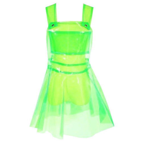 CLEAR PVC DRESS- GREEN