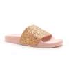 HONEY HONEY PINK GLITTER SLIDES