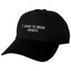 BREAK HEARTS STRAPBACK HAT BLACK
