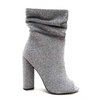LYRA SILVER SLOUCH PEEP TOE BOOTIE
