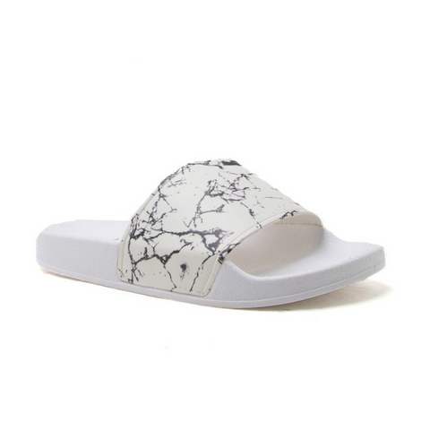 MARBLE BOO SLIDE SANDALS