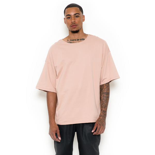 JETBANG LA DROP SHOULDER TEE PINK