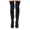 PROSA MIDNIGHT VELVET OVER THE KNEE BOOTS