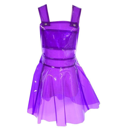 CLEAR PVC DRESS- PURPLE